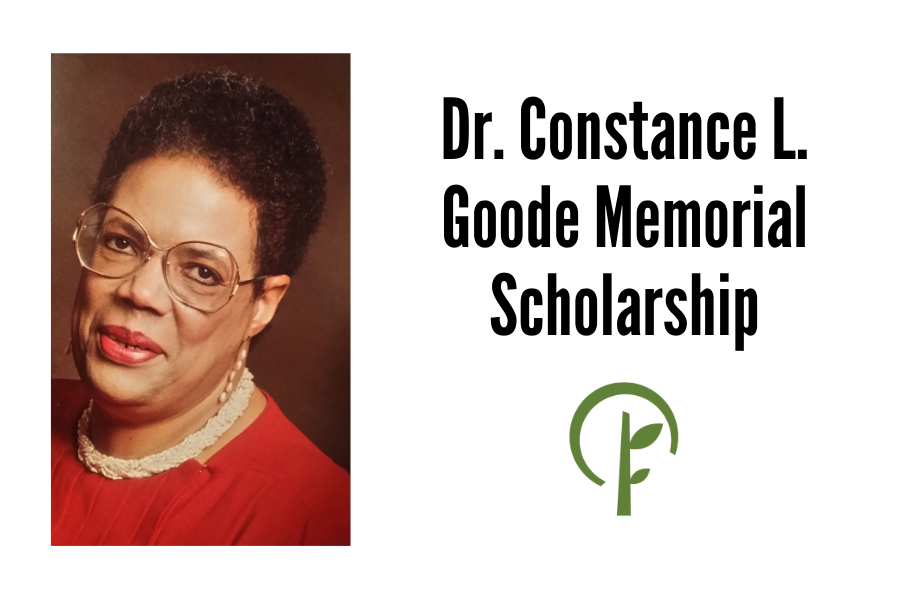 Photo of Dr. Constance L. Goode and logo for the Community Foundation of Northern Illinois