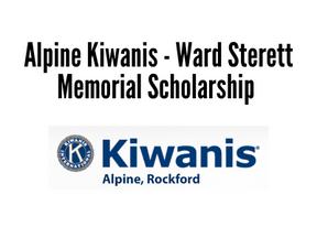 Alpine Kiwanis - Ward Sterett Memorial Scholarship