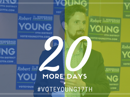 Just 20 days until the Primary. Vote Young!