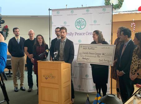 Next Rockford donates $10,000 to Family Peace Center
