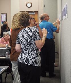 Cohort members participate in a data walk 3_edited