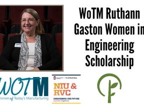 WoTM Ruthann Gaston Women in Engineering Scholarship