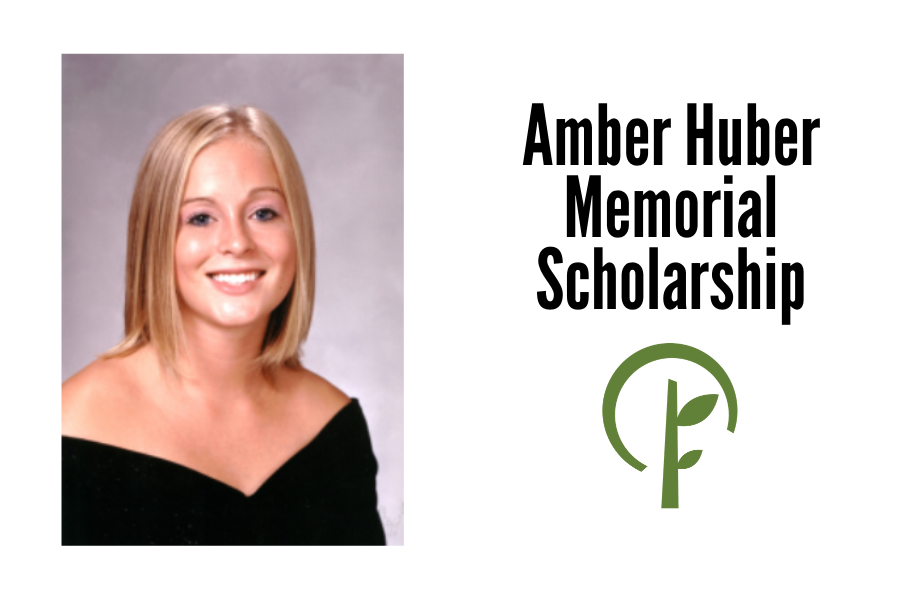 Photo of Amber Huber and logo of the Community Foundation of Northern Illinois