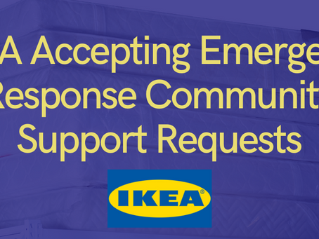IKEA Accepting Emergency Response Community Support Requests
