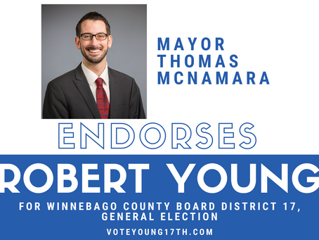 Robert Young Endorsed by Mayor Tom McNamara