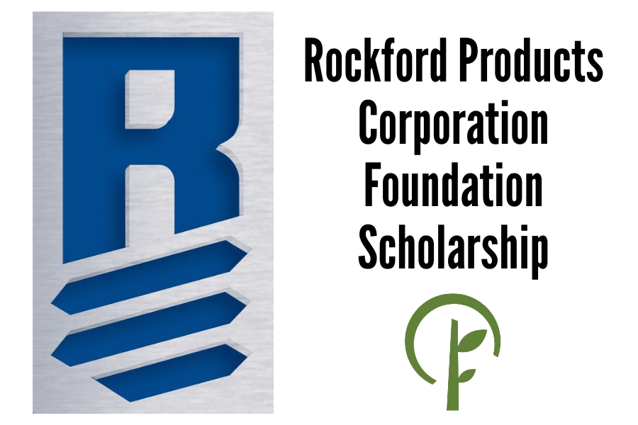 Logos for Rockford Products Corporation Foundation and the Community Foundation of Northern Illinois