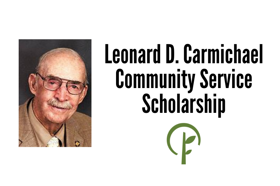 Picture of Leonard D. Carmichael. Community Foundation of Northern Illinois logo.