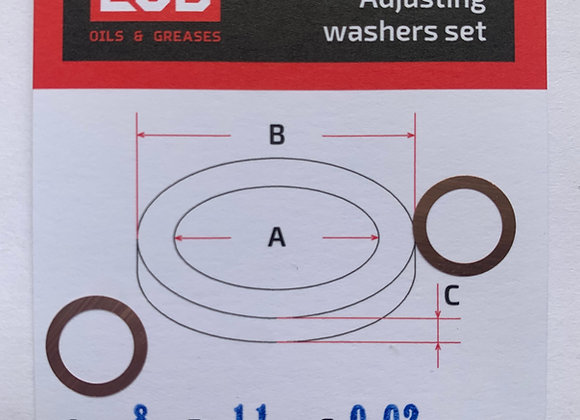 Комплект шайб рег. 8*11*0,02 мм. 2 шт.