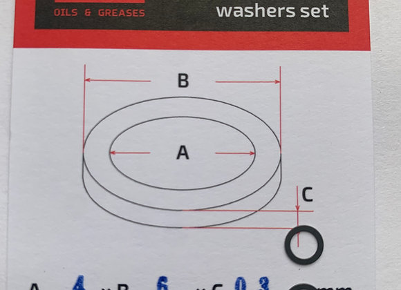 Reg. washers set 4 * 6 * 0.3mm. 2 pcs.