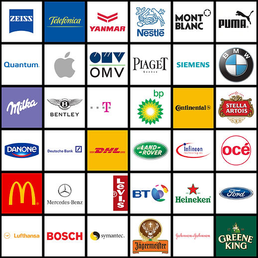 Thirty six different commercial logos.
