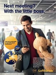 Image of a Lufthansa print ad