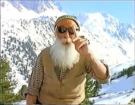 Screen shot from the Milka Cool Man TV spot