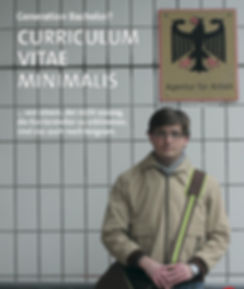 Plakat Curriculum Vitae Minimalis