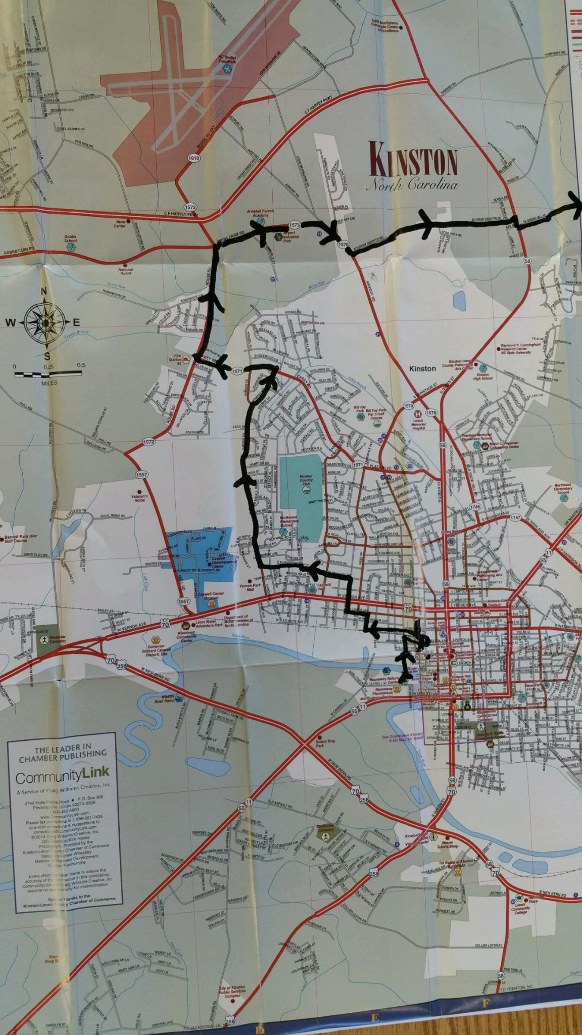 Map 1 - 70 Mile Ride