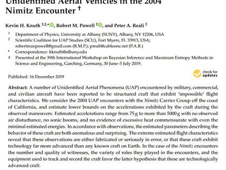 Estimating Flight Characteristics of Anomalous Unidentified Aerial Vehicles in 2004 Nimitz Encounter