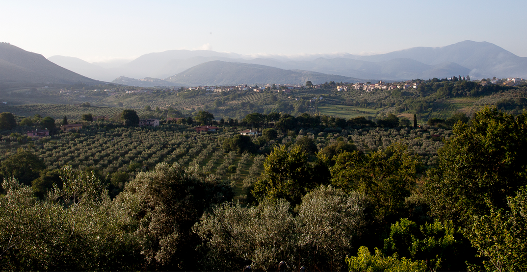 Vista panoramica della Sabina