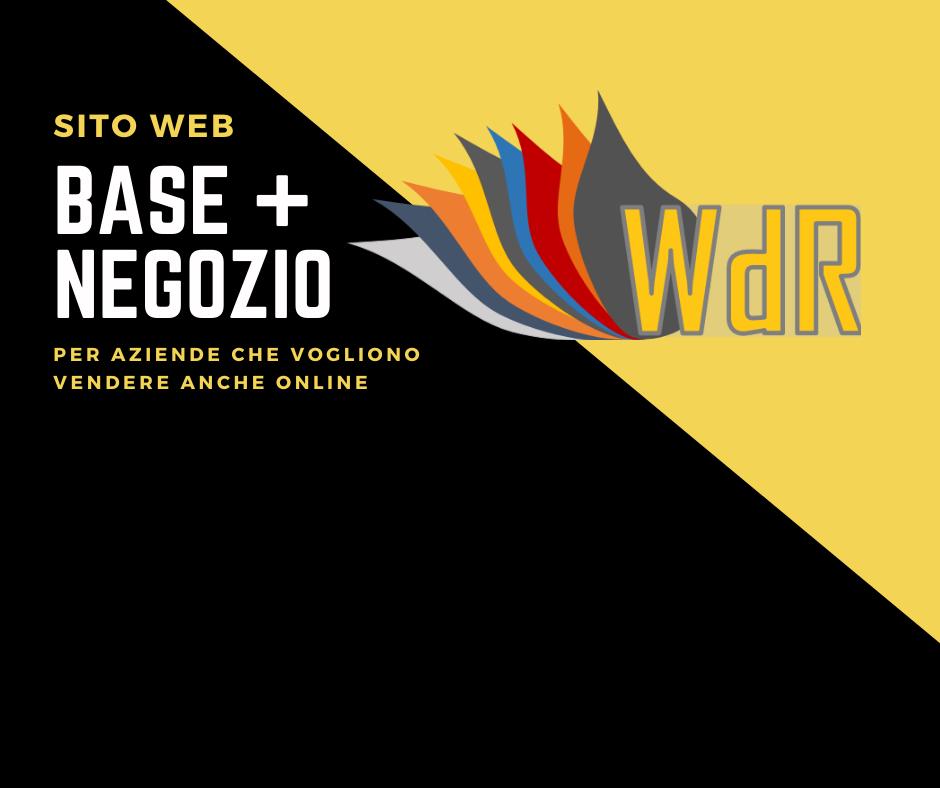 SITO WEB BASE + NEGOZIO