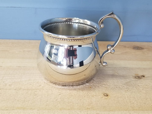 Pewter Beaded Baby Cup