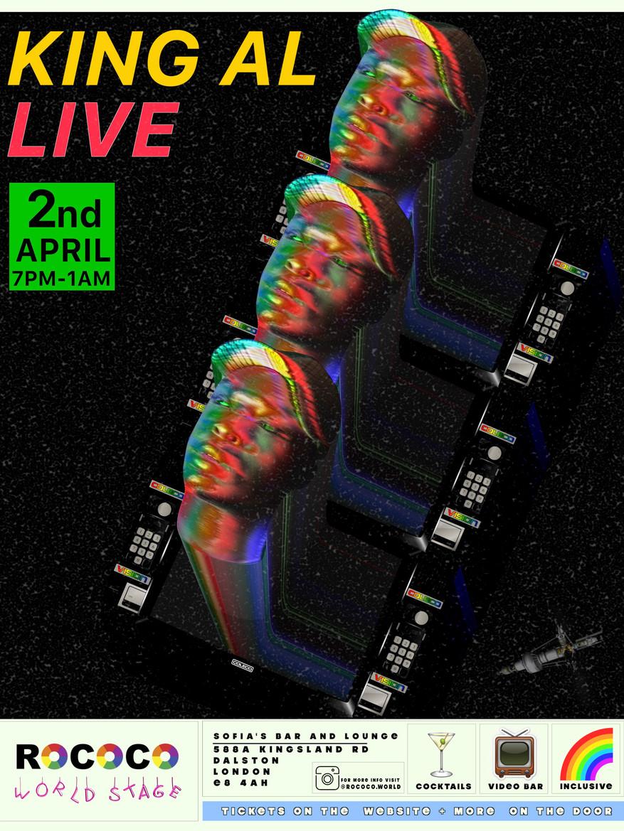 Rococo World Stage poster (King Al) Fina