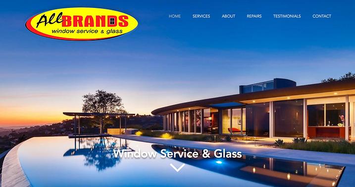 All-Brands Window Service & Glass website