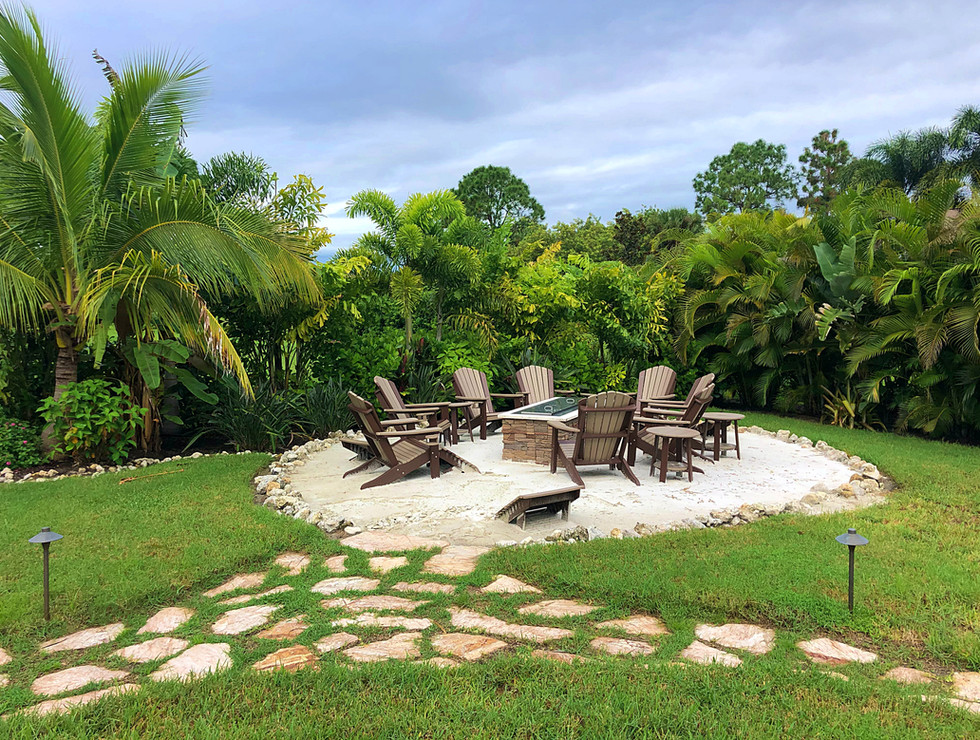 Landscaping in patio