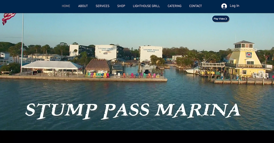 Stump Pass Marina website