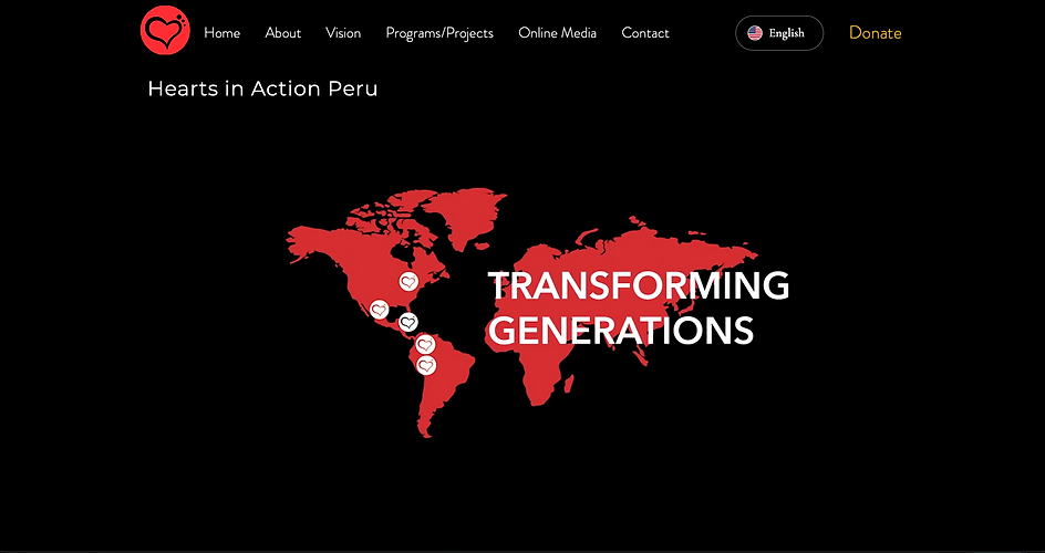 Hearts in Action Peru website