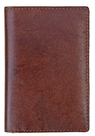 Brown Vedge Tan Leather Credit Card Holder
