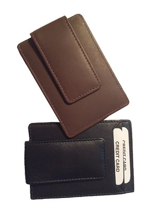 Money Clip & Credit Card Holder in Nappa Leather