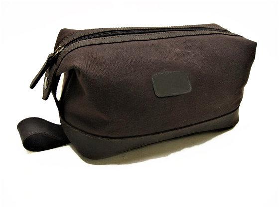 Waxed Canvas & VT Leather Washbag