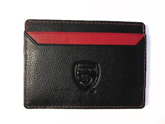 Black with Red Contrast Credit Card Holder