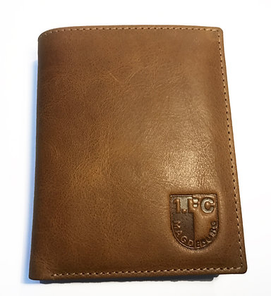 Tan VT Leather Business Card Holder