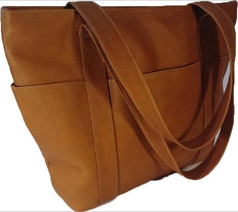 Leather VT Tanned Shoulder Bag