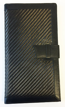 Carbon Fibre and VT Leather Passport Wallet