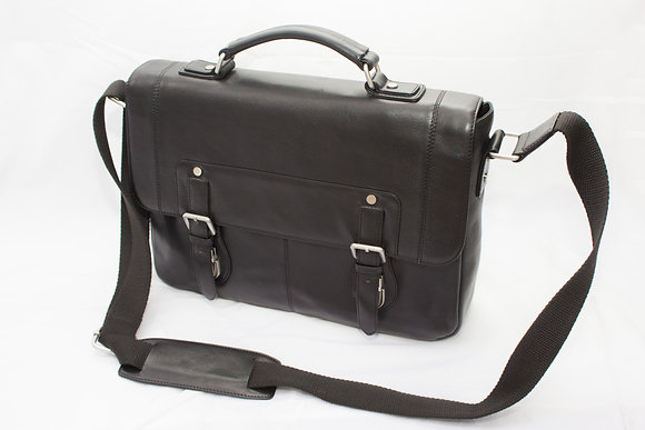 Business Case in Black Nappa Leather