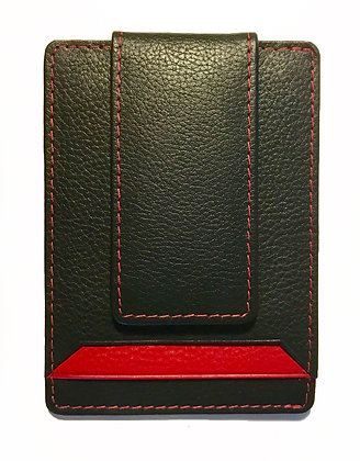 Leather Money Clip and Business/Credit Card Holder