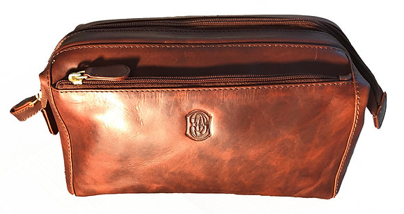 Italian Leather Washbag
