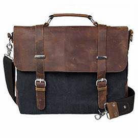 Hunter and Canvas Satchel