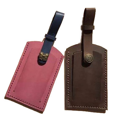 VT Leather and Brass-work Luggage Tag