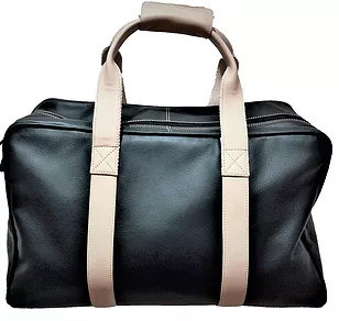 Black Nappa with Cream Leather Trim Holdall NLC3387