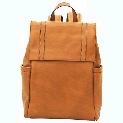 Tan Italian Leather Backpack