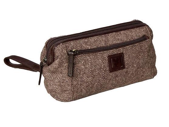 Tweed & VT Leather Washbag