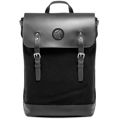 Leather and Canvas backpack