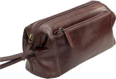 Brown Vedge Tan Leather Washbag