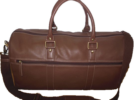 Casumo Brown Vaquetta Leather Holdall