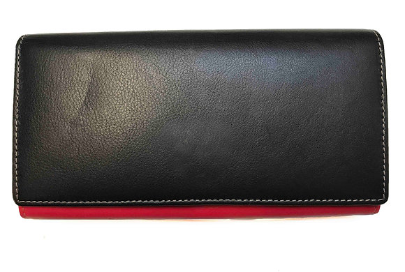 Nappa Multi Coloured Flap-over Purse