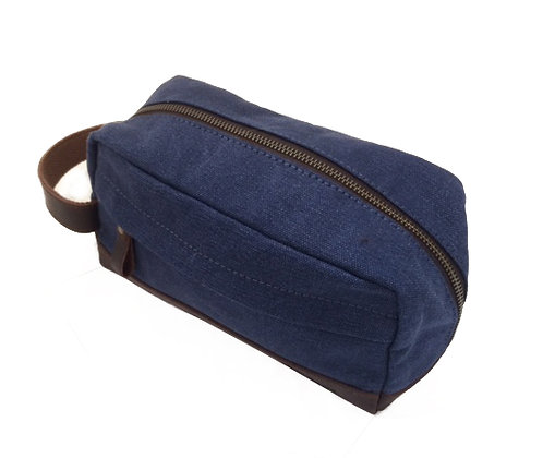 Canvas & Hunter Leather Washbag