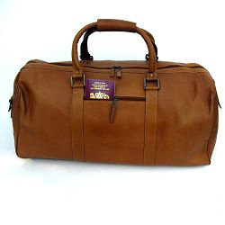 Tan VT Leather Holdall