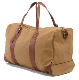 Canvas & Red VT Leather Holdall