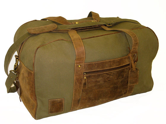 Canvas & Hunter Leather Holdall